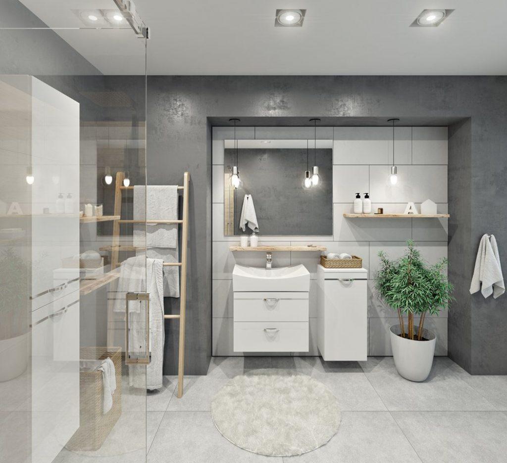 Meuble De Salle De Bain Osier du blanc dans la salle de bain - comment introduire une base