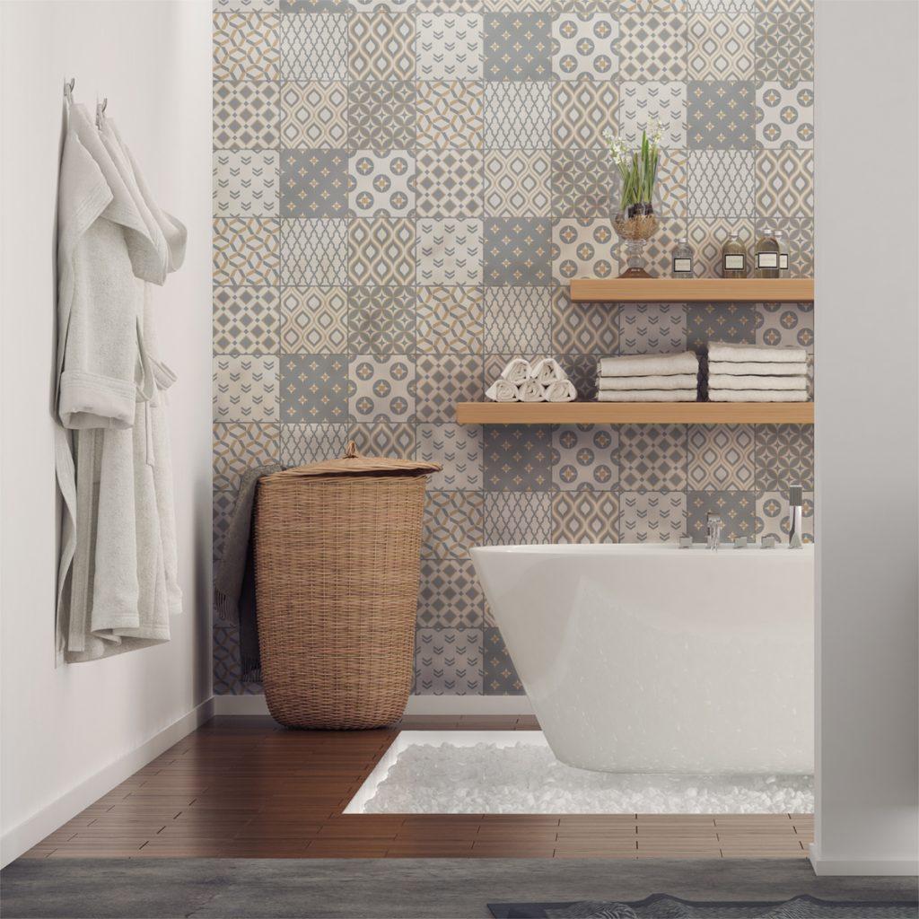 Carrelage salle de bain Quels motifs, couleurs et tendances en