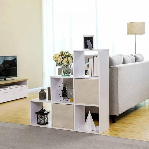 vasagle-etageres-bibliotheque-blanche-en-escalier-avec-6-carres-lbc63bx